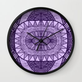 Grape Tangled Mania Pattern Doodle Design Wall Clock