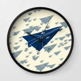 Paper Airplane 11 Wall Clock