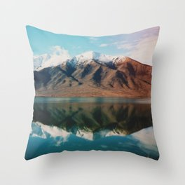 Film photo of New Zealand Glacier Landscape Throw Pillow