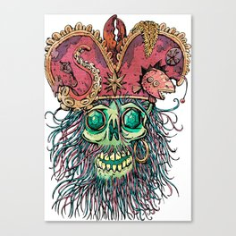 skeleton head of the pirate Canvas Print