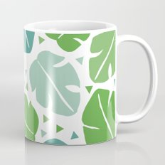 Monstera tropical summer leaf botanical pattern Mug