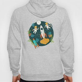 Race to the Moon with Flower Power Hoody