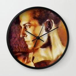 Ramon Navarro, Vintage Silent Movie Actor Wall Clock