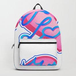 Valentine love heart gift on February 14 Backpack