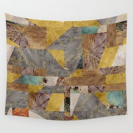 Hippie Patchwork Collage Wall Tapestry