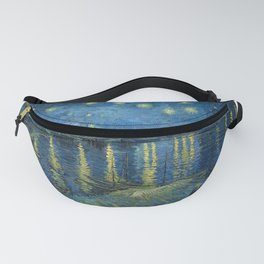 Van Gogh, Starry Night Over The Rhone Artwork Reproduction, Posters, Tshirts, Prints, Bags, Men, Wom Fanny Pack