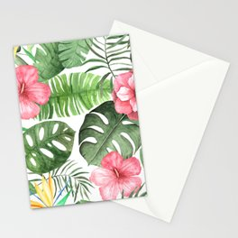 Watercolor Tropical Floral #2 Stationery Cards