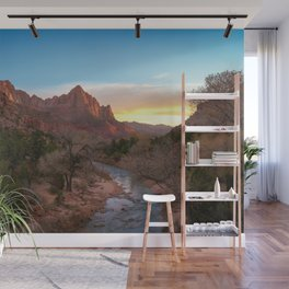 The Watchman Sunset Zion National Park Mountain Landscape Wall Mural