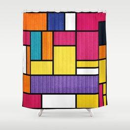 Mondrian Bauhaus Pattern #11 Shower Curtain