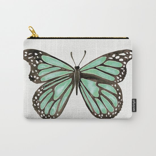 Mint Butterfly Carry-All Pouch