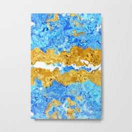 Abstract Marble Metal Print