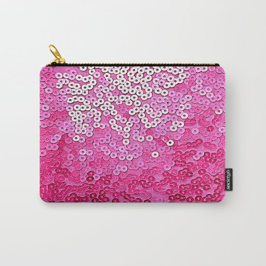 Party Pink Sequins Carry-All Pouch