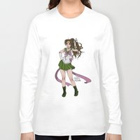 sailor jupiter Long Sleeve T-shirts featuring Sailor Jupiter by Teo Hoble