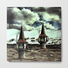 Lighthouses at sea Metal Print