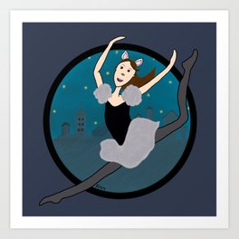 Dancing Through The Night Art Print
