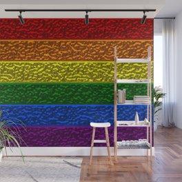 Gay Pride Chrome Flag Wall Mural