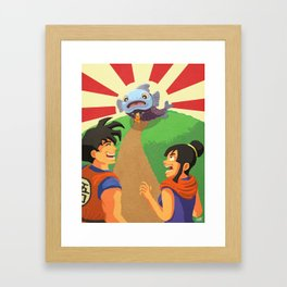 Look at What I Caught! Framed Art Print