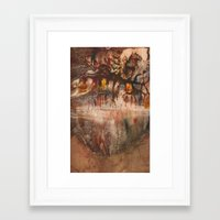 middle earth Framed Art Prints featuring Middle of the Earth by Loredana