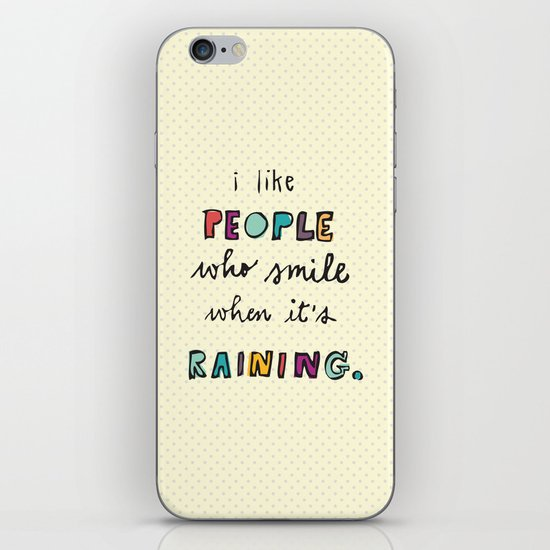 when it's raining iPhone & iPod Skin
