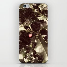 Christmas Holly iPhone Skin