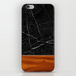 Marble and Wood iPhone Skin