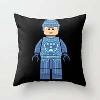 tron Throw Pillows featuring Tron Lego by Ant Atomic