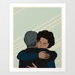Beautiful Boy: Timothée Chalamet & Steve Carell Art Print