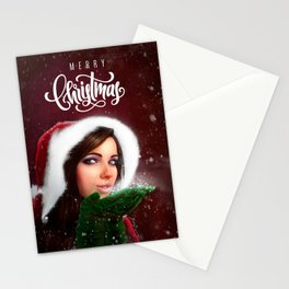 Lady Christmas Stationery Cards
