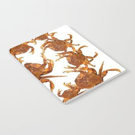 SHORE CRABS ON WHITE ART Notebook