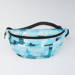 Ocean Pixelate Glitch Fanny Pack