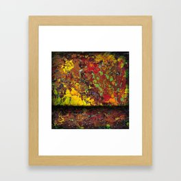 Abstract Distressed #1 Framed Art Print