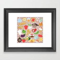 Cute food Framed Art Print