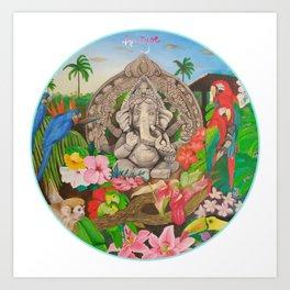 ganesha reloj Art Print