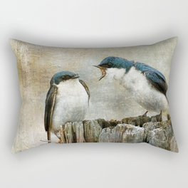 The Bully - Tree Swallows  Rectangular Pillow