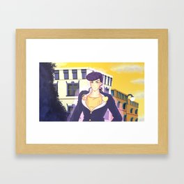 Drawing Josuke Higashikata DiU Framed Art Print