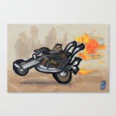 Use Verb on Noun #1: Full Throttle Canvas Print