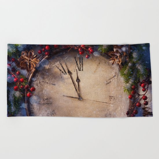 Frozen time winter wonderland Beach Towel