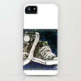 High Top Tennis Sports Gym Shoe, High-Tops Iconic Converse Style iPhone Case