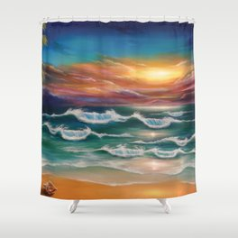 Ode to Palawan Shower Curtain