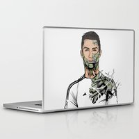 ronaldo Laptop & iPad Skins featuring Football Legends Cristiano Ronaldo Real Madrid Robot by Akyanyme