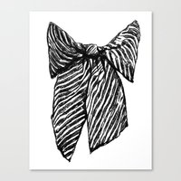 bow Canvas Prints featuring Bow by Samantha Turnbull