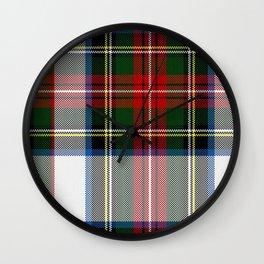 Clan Stewart Dress Tartan Plaid Pattern Wall Clock