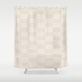 hatches –small white Shower Curtain