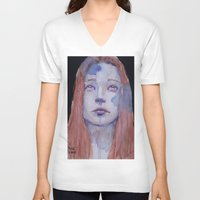 redhead V-neck T-shirts featuring Redhead by SirScm