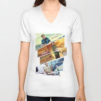 gta V-neck T-shirts featuring Breaking Bad mashup GTA V  by Akyanyme
