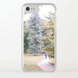 Green Pallete Clear iPhone Case