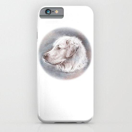 Golden Retriever Dog Drawing iPhone & iPod Case