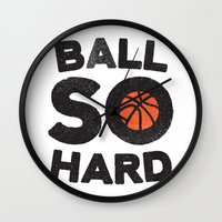 Ball So Hard Wall Clock