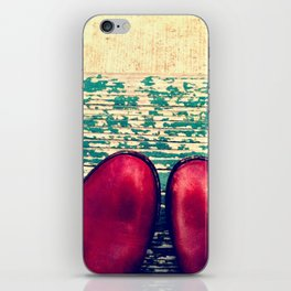 Red Boots and Possibilities iPhone Skin