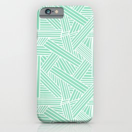 Sketchy Abstract (White & Mint Pattern) iPhone Case